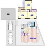 高知市瀬戸南町2丁目 リフォーム・中古住宅 3LDK(間取)