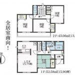 高知市介良乙2号棟 新築住宅 4LDK 112.57㎡(間取)