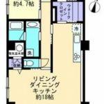 高知市追手筋 レジデンス大手前 4階 中古マンション(間取)