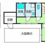 高知市宇津野 売家 中古住宅 2LDK(間取)