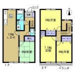 高知市瀬戸東町3丁目 中古住宅 4LDK(間取)