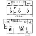 香美市土佐山田町泰山町1丁目 新築住宅 4LDK(間取)